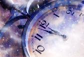 Nový rok o půlnoci — Stock fotografie