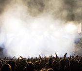Multitud en concierto — Foto de Stock
