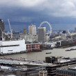 London panorama from St. Paul cathedral - Stock Photo