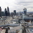London panorama from St. Paul cathedral — Stock Photo