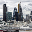 London panorama from St. Paul cathedral — Стоковая фотография