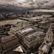London panorama from St. Paul cathedral - Stockfoto