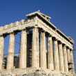 The Parthenon in the Akropolis, Athens - Stock Photo
