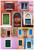 Burano island near Venice — Stock Photo