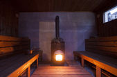 Indoor View of Sauna — Stock Photo