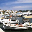 Fishing boats in Greek island bay — Stock Photo