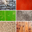 Stock Photo: Collection of different old wall textures