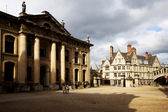Oxford houses with Bridge of sighs — Stock Photo