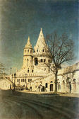 Vintage photo of Fisherman Bastion on the Buda Castle hill in Budapest, Hungary — Stock Photo