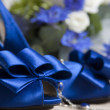 Foto Stock: Bride shoes