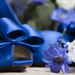 Stock Photo: Bride shoes