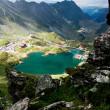 Landscape from Balea Lake, Fagaras Mountains, Romania in the summer — Stock Photo