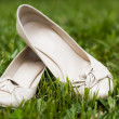 Stock Photo: Bridal shoes