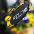 Stock Photo: Welcome sign