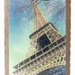 Vintage Paris postcard-Eiffel Tower — Stock Photo #27258797