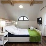 Rustic bedroom — Stock Photo