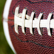 Closeup of American football — Foto Stock