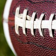 Closeup of American football — Stock Photo