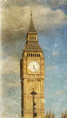 Vista d'epoca del big ben — Foto Stock