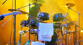 Drums on stage — Stock Photo