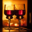 glasses of wine — Stock Photo