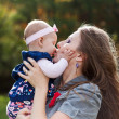 Mother and baby kissing — Stock Photo