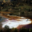 Water pollution of copper mine exploitation — Stock Photo #34754141