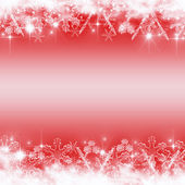 Abstract Christmas background with white snowflakes — Stock Photo