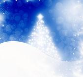 Abstracte kerstmis achtergrond met witte sneeuwvlokken — Stockfoto