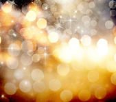 Abstract Christmas background with snowflakes and holiday lights — Foto de Stock