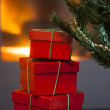 Red gift boxes — Stock Photo #37468579