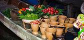 Taling Chan schwimmende Markt — Stockfoto