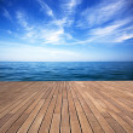 Sea and wooden walkway — Stock Photo #46024391
