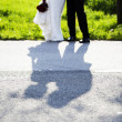 Shadow of kissing couple — Stock Photo #47536471