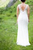 Mariée en robe de mariée belle — Photo