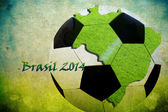 Brazil map, ball and flag colors — Stockfoto