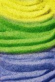 Brazylia flaga kolory na piasku — Zdjęcie stockowe