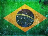 Brasilien-flagge — Stockfoto