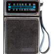 Vintage Black Portable Transistor Radio Isolated on White Backgr — Stock Photo #7896816