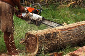 The Sawmilling used in industrial applications. — Stock Photo