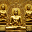 Golden Buddha meditation. — Stock Photo