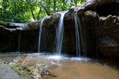 The small waterfall and rocks in National Park, Thailand. — Stock Photo