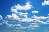 Blue sky with cloud closeup. — Stock Photo