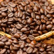 Roasted coffee beans. (Arabiccoffee) — Foto de stock #34461967