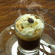 Espresso con panna coffee — Stock Photo