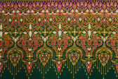 Patterned fabric woven culture of Thailand. — Stock Photo