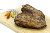 Fried pork. — Stock Photo