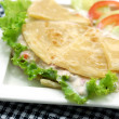 Indian food, Chapati flatbread, roti canai. Famous indian cuisin — Stock Photo