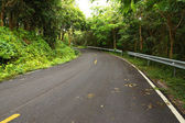 Empty curved road to the mountain. — Stockfoto