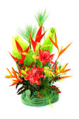 Flower arrangement with tropical flowers. — Stock Photo